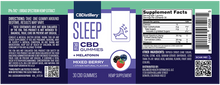 Load image into Gallery viewer, 30mg Broad Spectrum CBD Sleep Gummies + Melatonin - 30 Count - 0% THC*