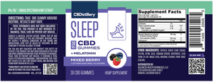 30mg Broad Spectrum CBD Sleep Gummies + Melatonin - 30 Count - 0% THC*