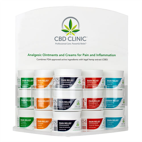CBD CLINIC PAIN RELIEVING CREAM & OINTMENT
