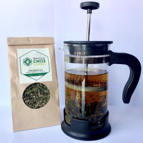 Whole Circle Farms Peppermint + Hemp Tea