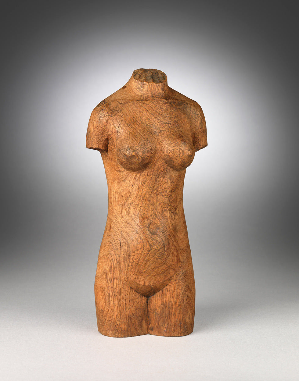 Primitive Folk Art Sculpture of a Naked Female Torso