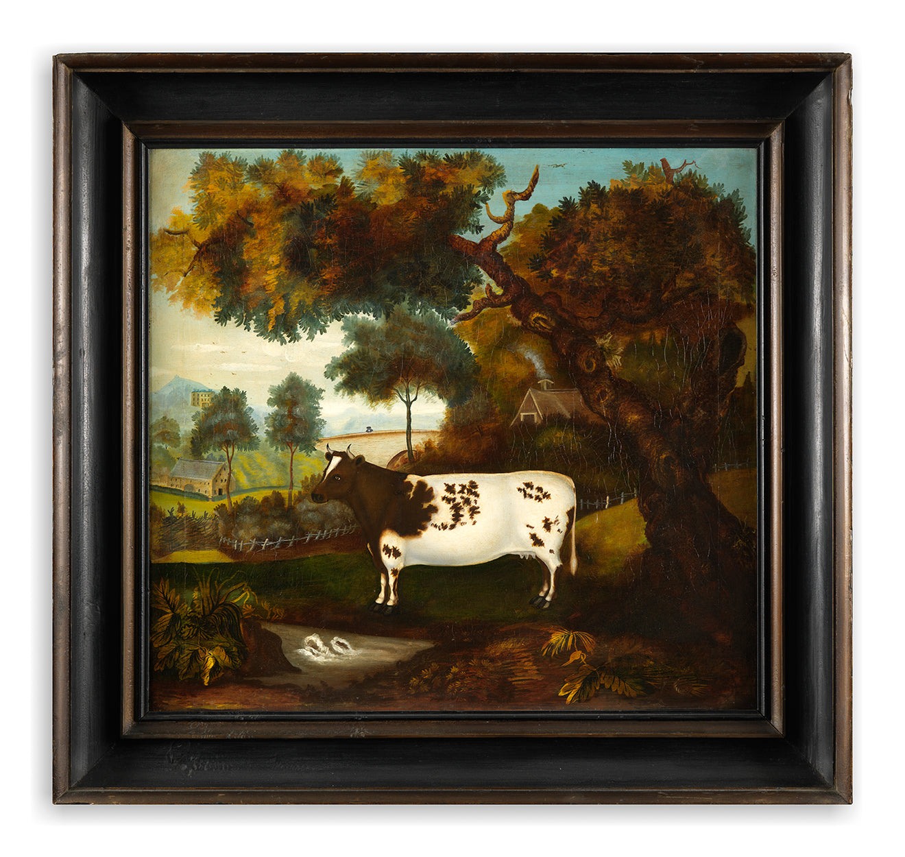 Exceptional Primitive Livestock Painting
