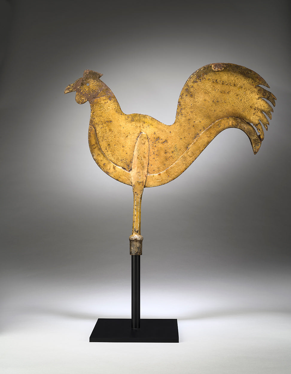 Fine Documentary Silhouette Cockerel Weathervane