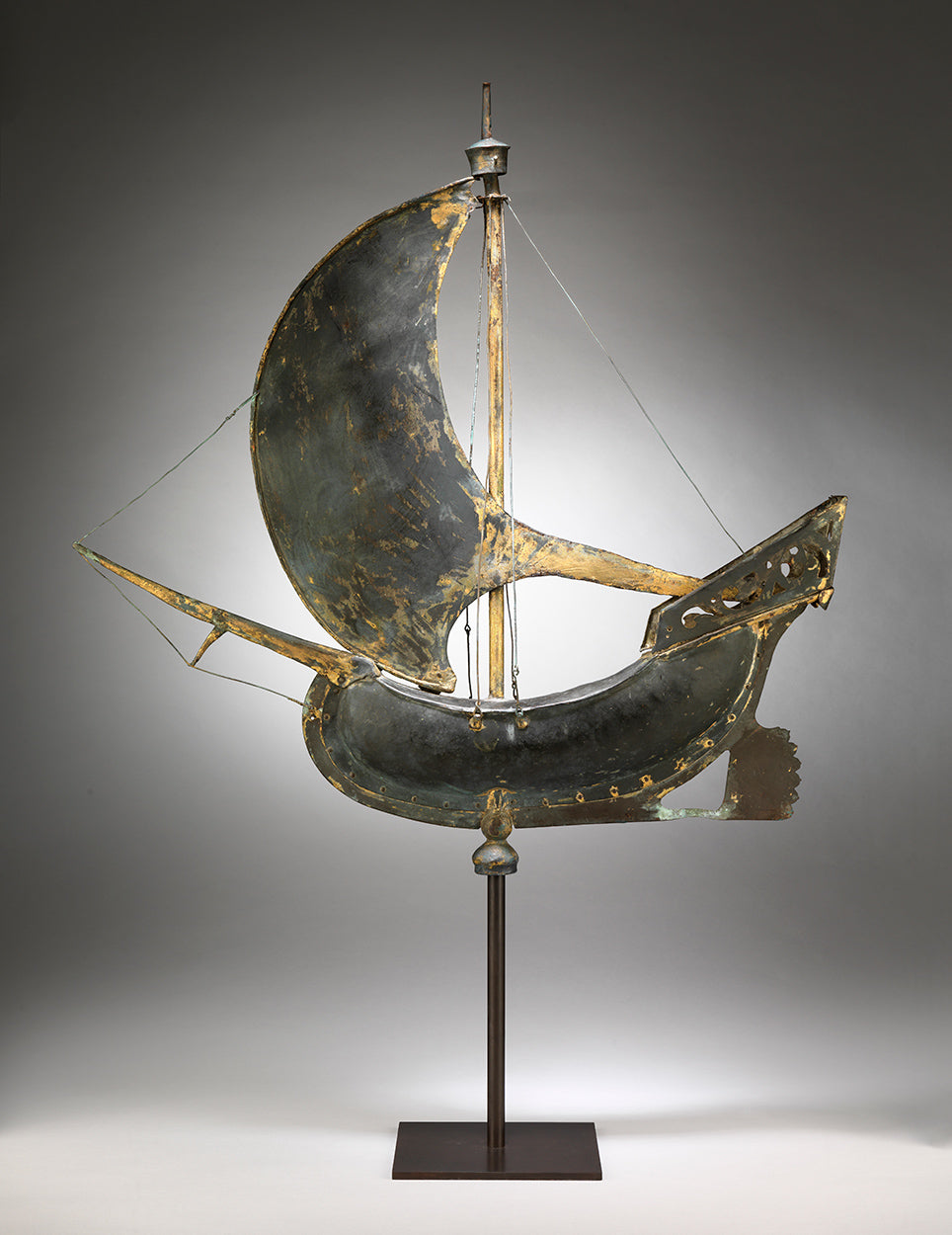Graphic Full-Bodied Galleon Ship Weathervane