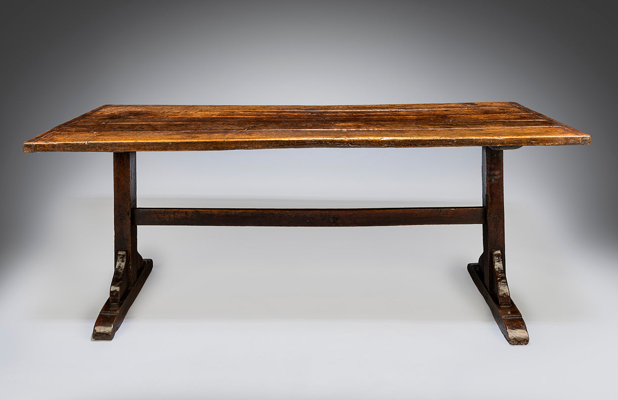 Classic Early Vernacular T-Trestle Dinging Table
