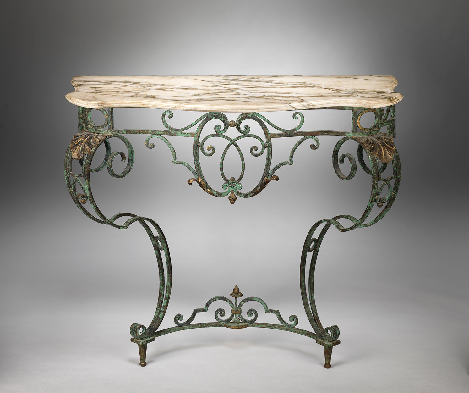 Provincial Classical Baroque Style Console Table