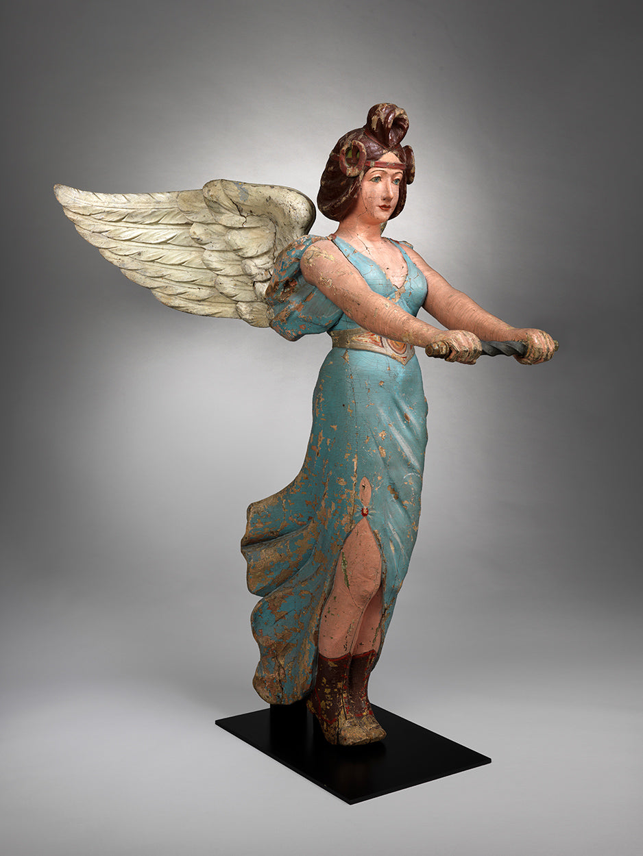 A Magnificent Documentary Fairground Carousel Angel