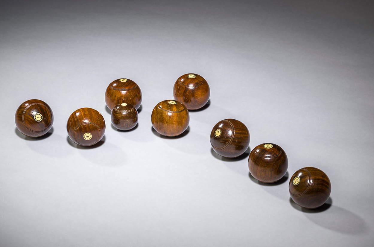 Rare and Engaging Set of Miniature Bowling Balls