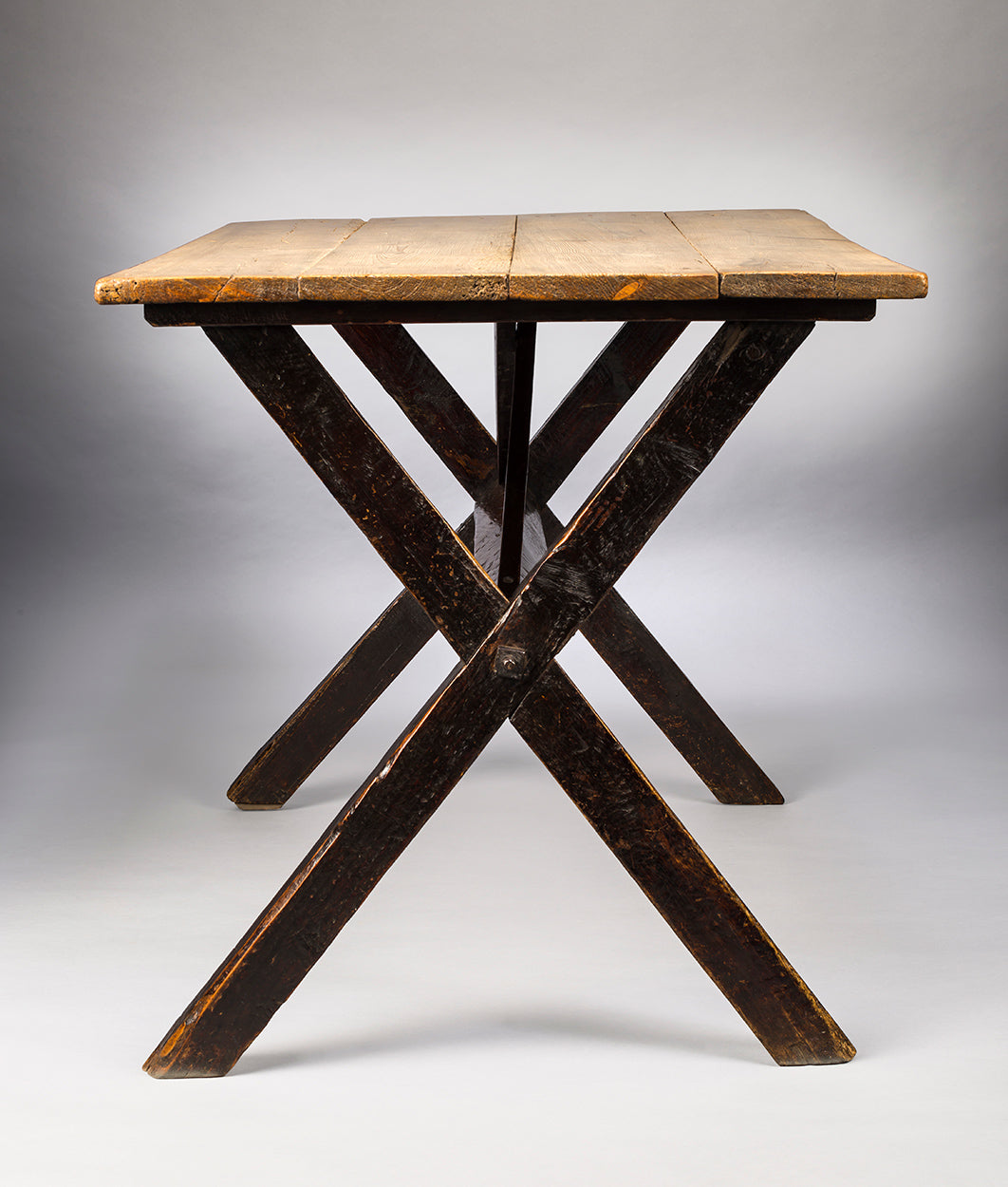 "Traditional ""X"" Frame Tavern Table"
