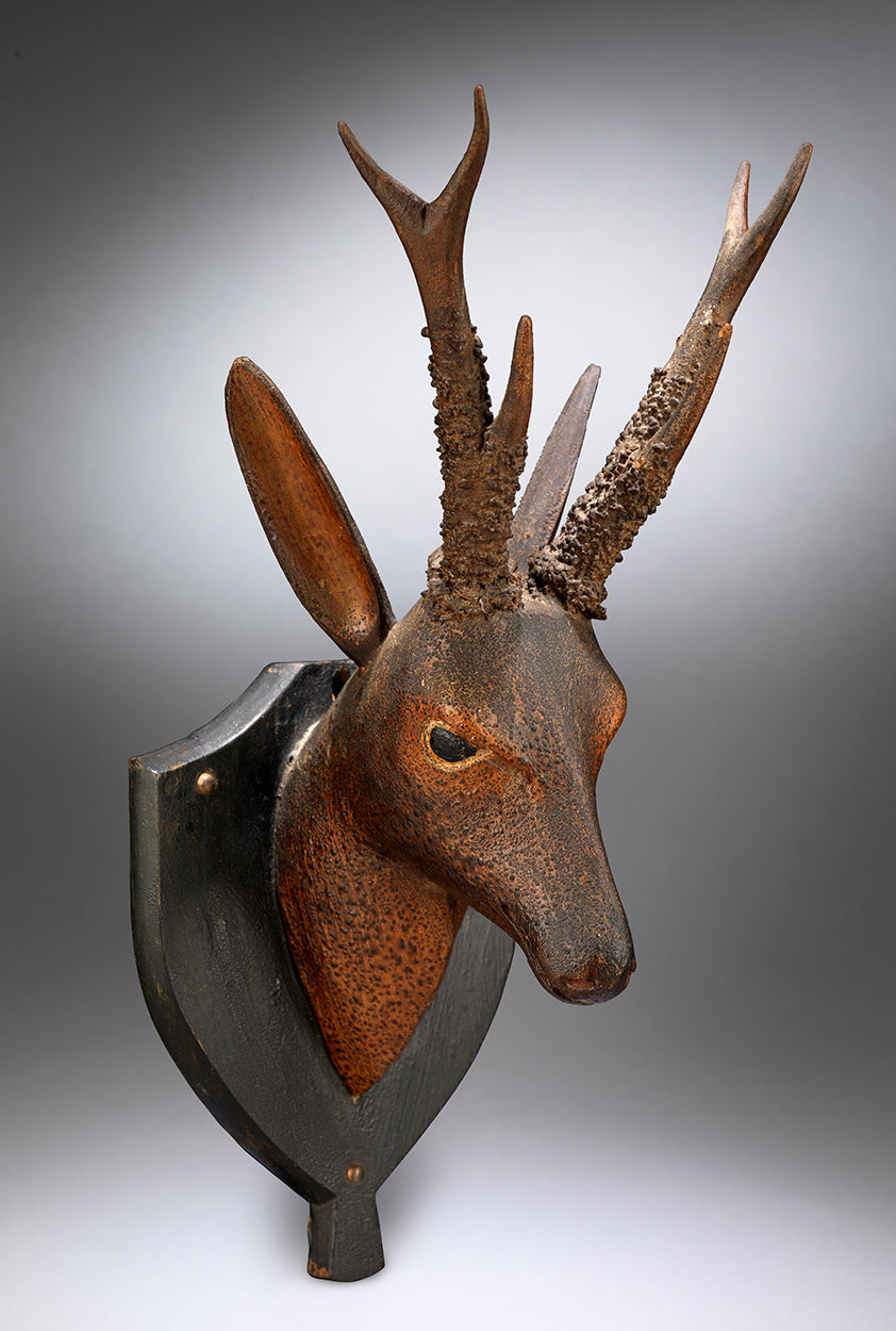 An Elegant Folk Art Roe Deer Hunting Trophy