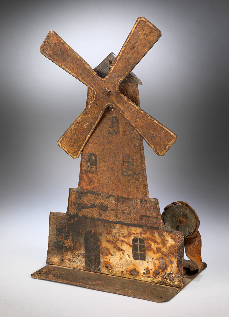 Rare Primitive Folk Art Windmill Fairground Target