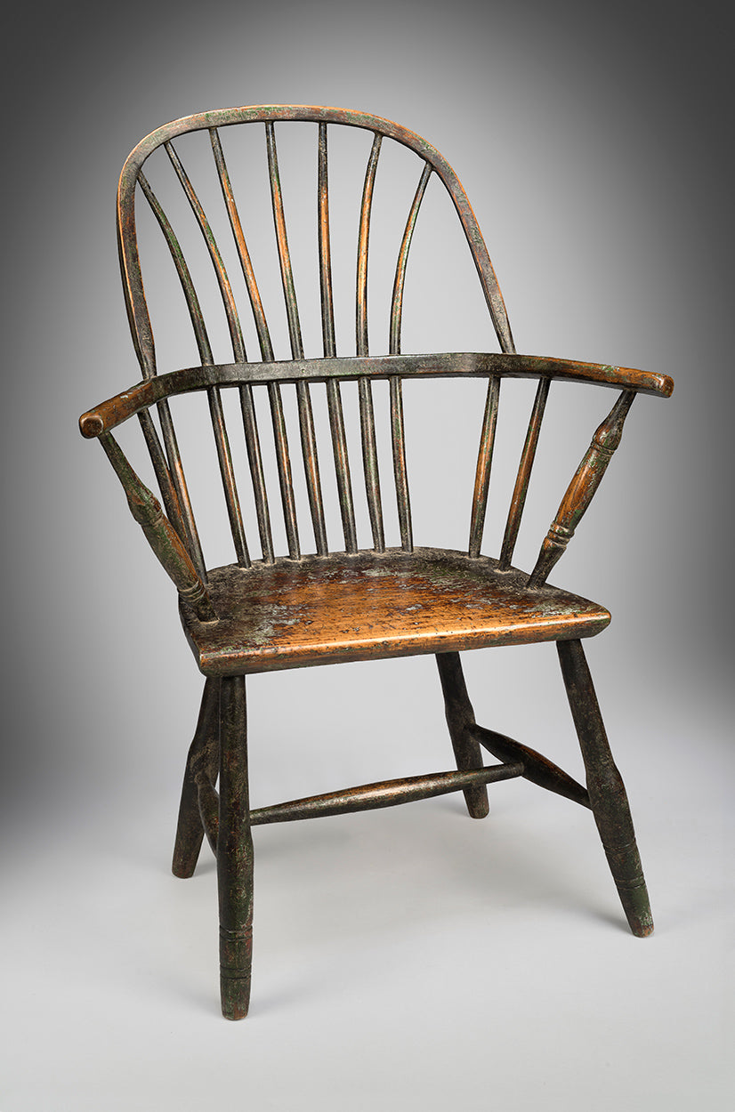"Delightful Vernacular ""Wheatsheaf"" Back Windsor Chair"