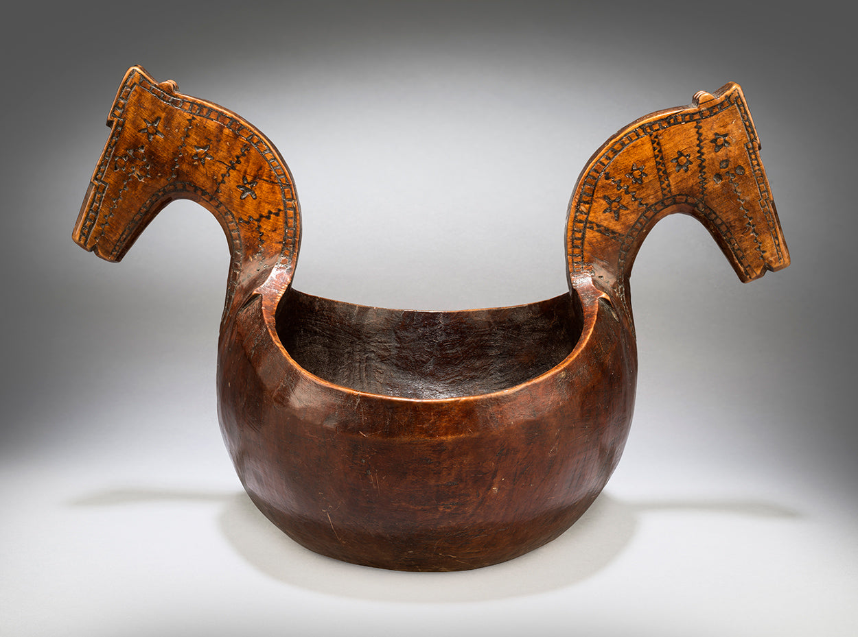 Traditional Ceremonial Twin Horse Head Kasa