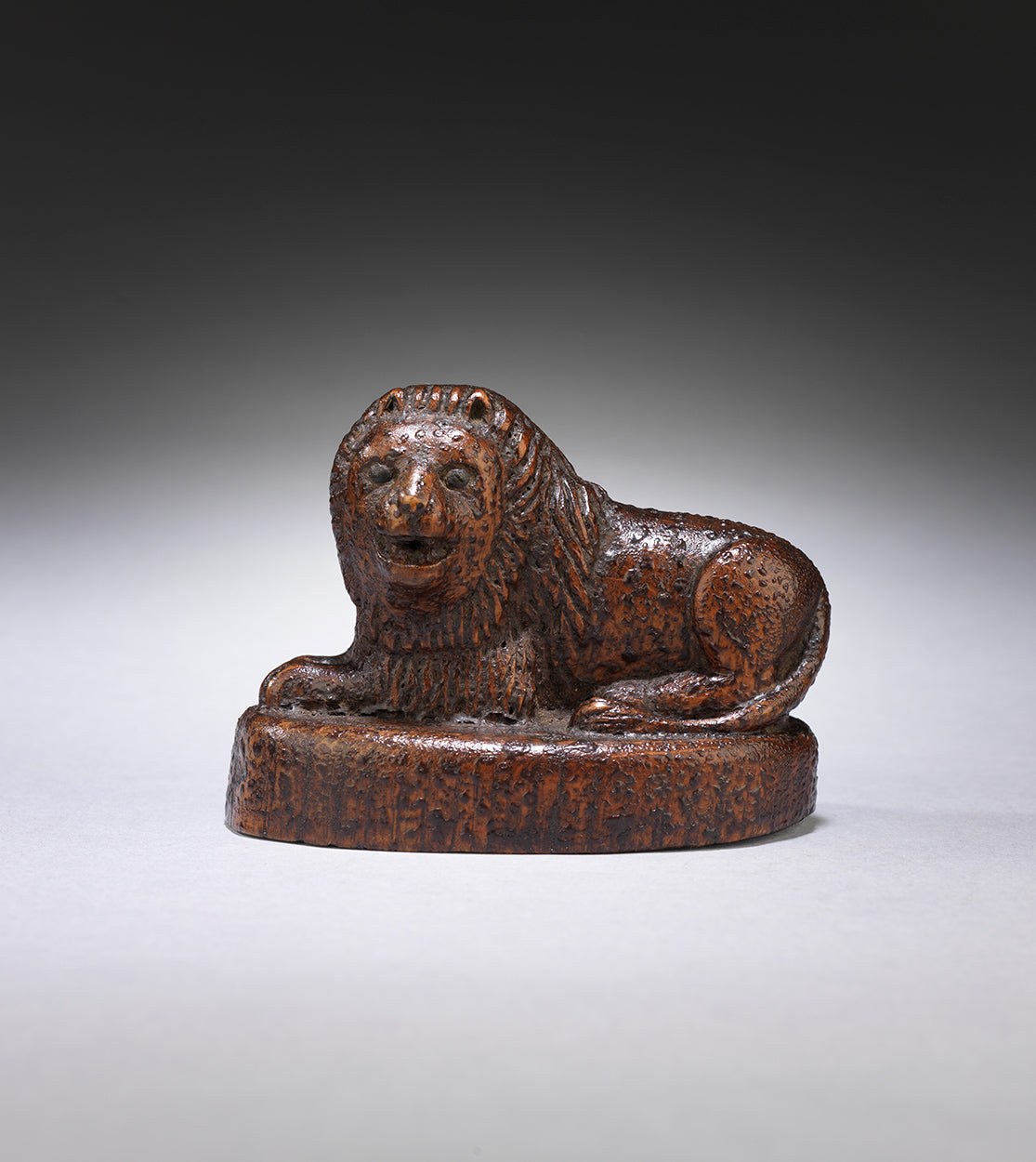 Whimsical Folk Art Sculpture of a Reclining Lion