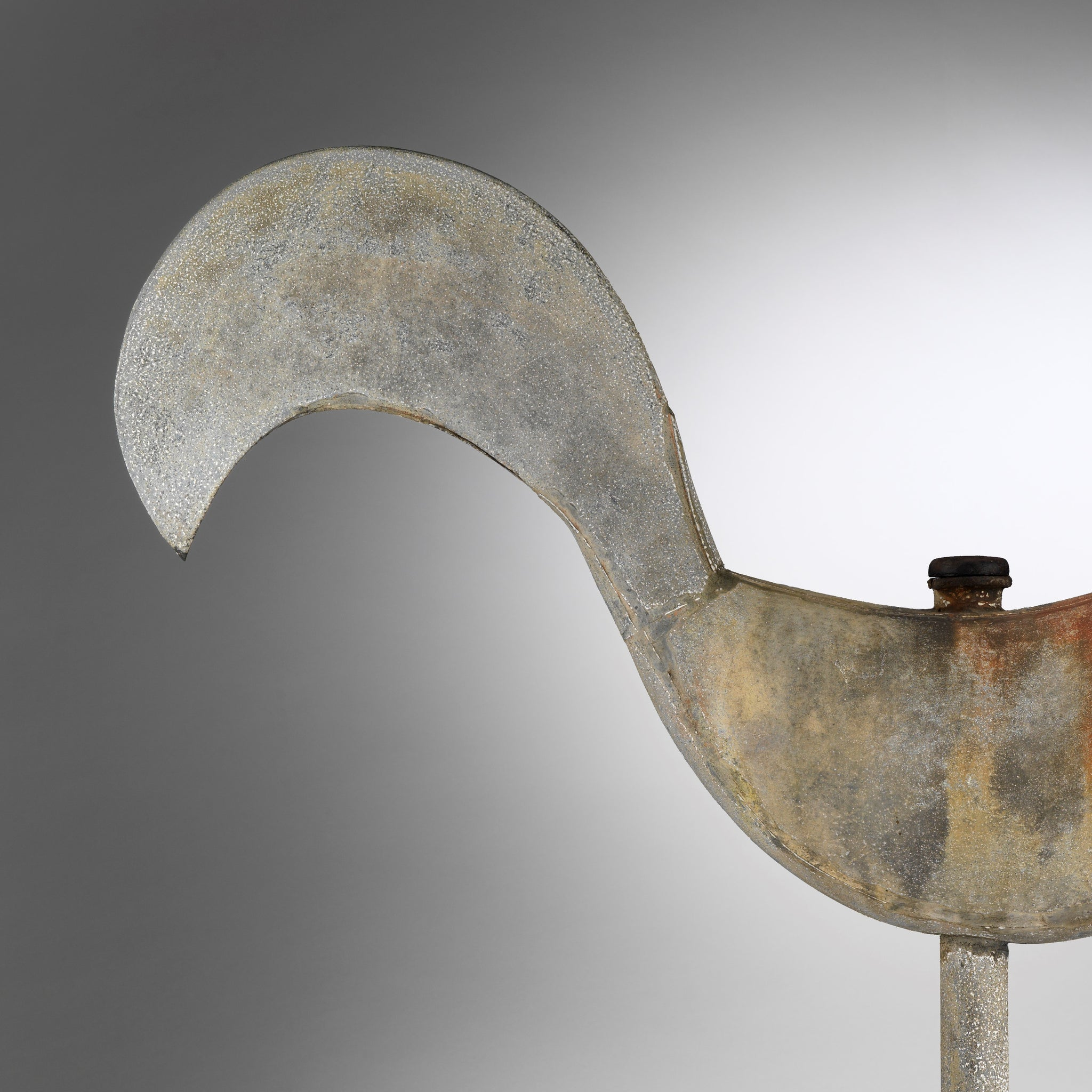 Unusual Full-Bodied Primitive Cockerel Weathervane