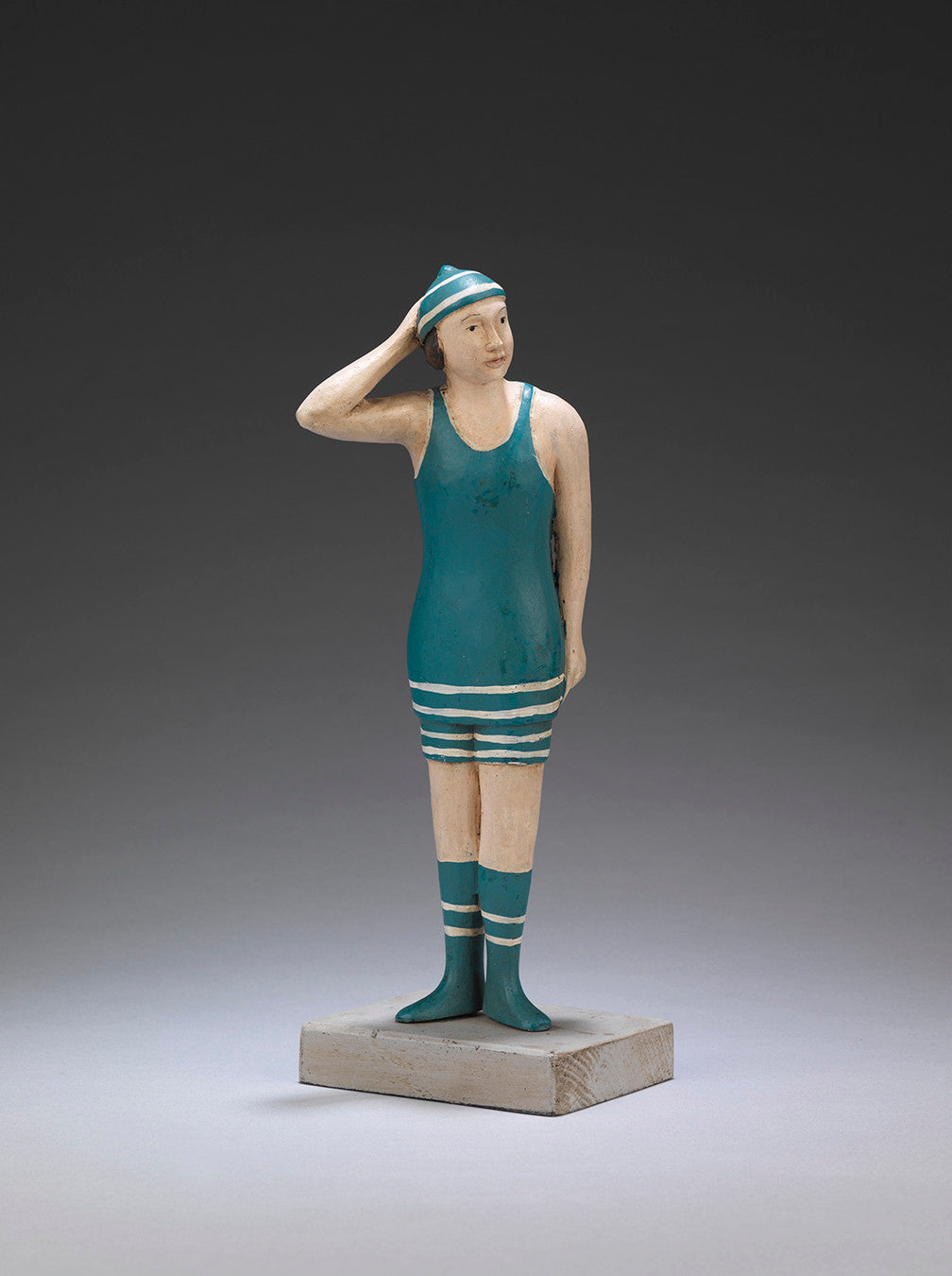 Two Naïve Folk Art Figures of Bathers