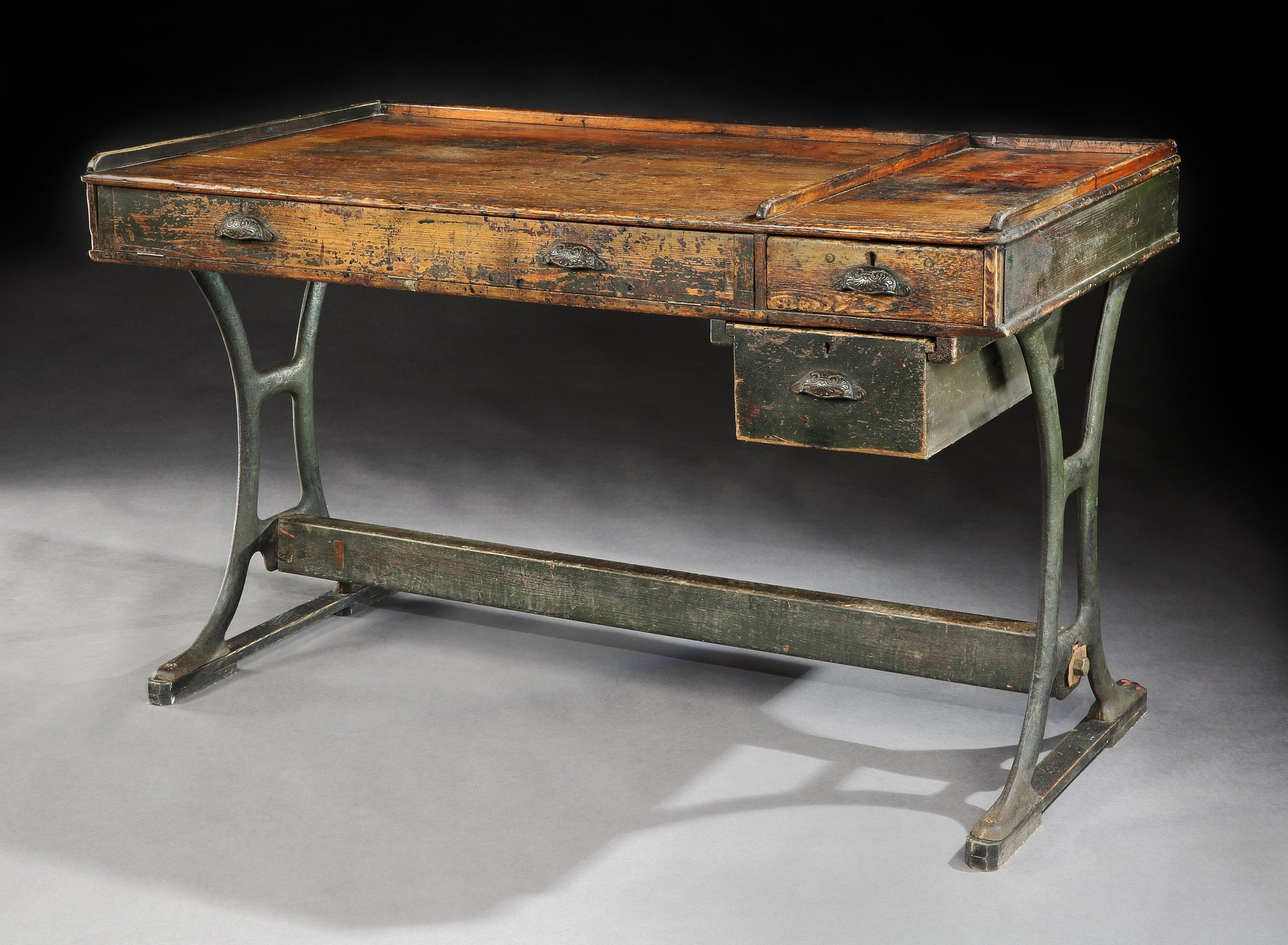 Rare Industrial Style Desk or Worktable