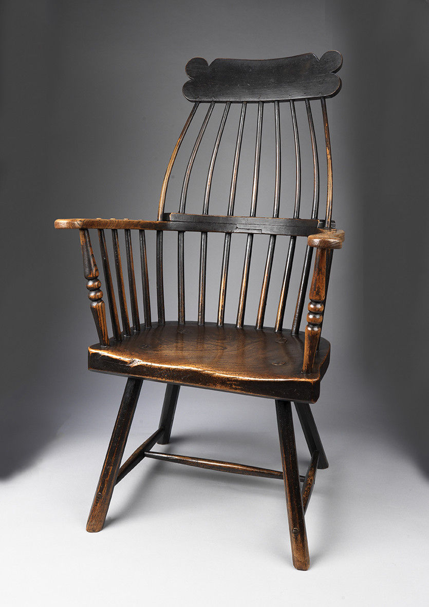 "Exceptional Georgian "" Lobster Pot"" Windsor Armchair"