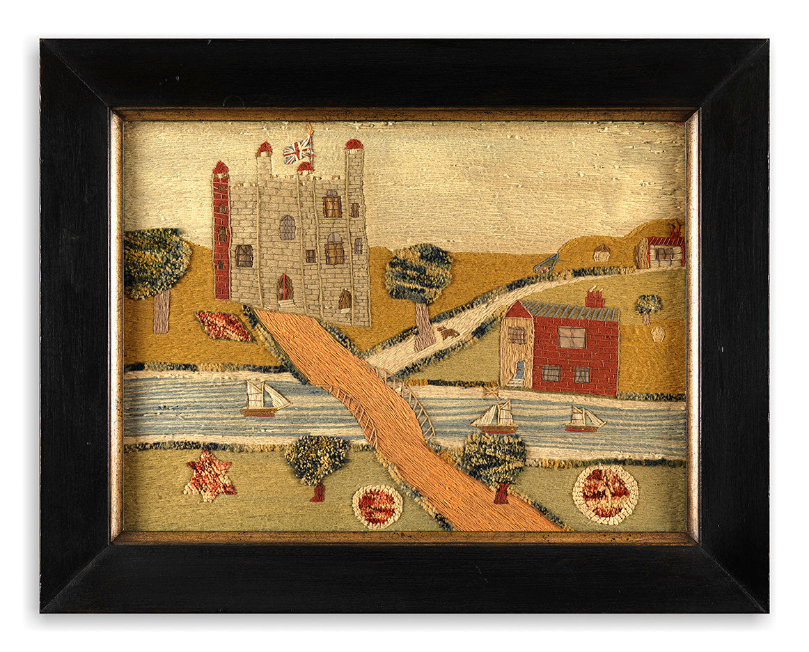 Wonderfully Naive Sailor's Needlework Picture