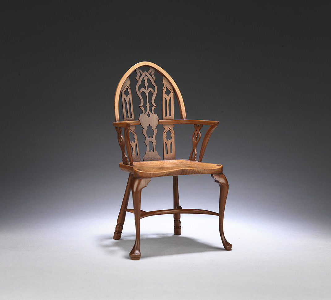 Remarkable Collection of Four Vintage Miniature Windsor Chairs