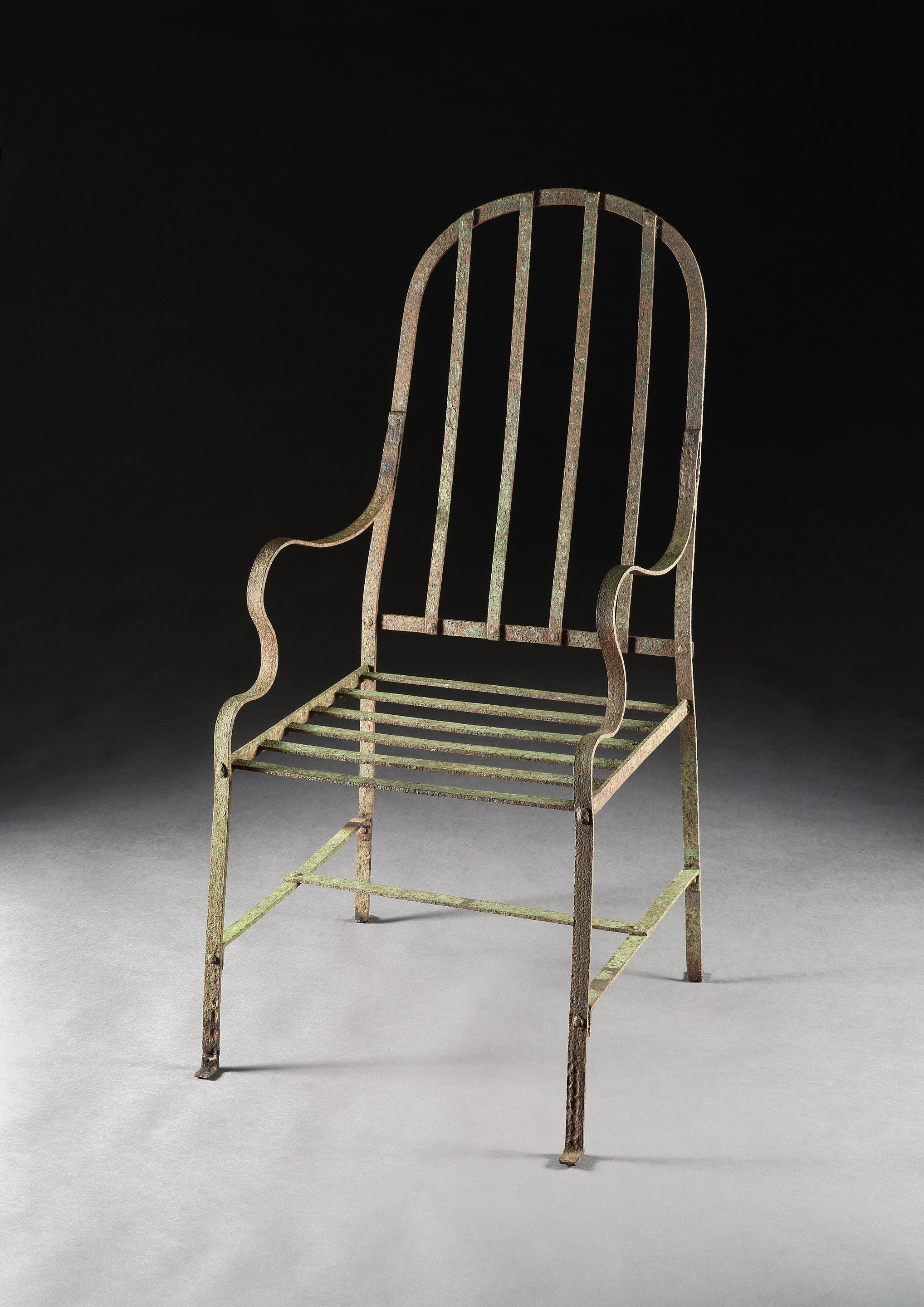 Exceptional Primitive Bow Backed Armchair