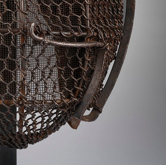 Graphically Sculptural Protective Ironwork Mask