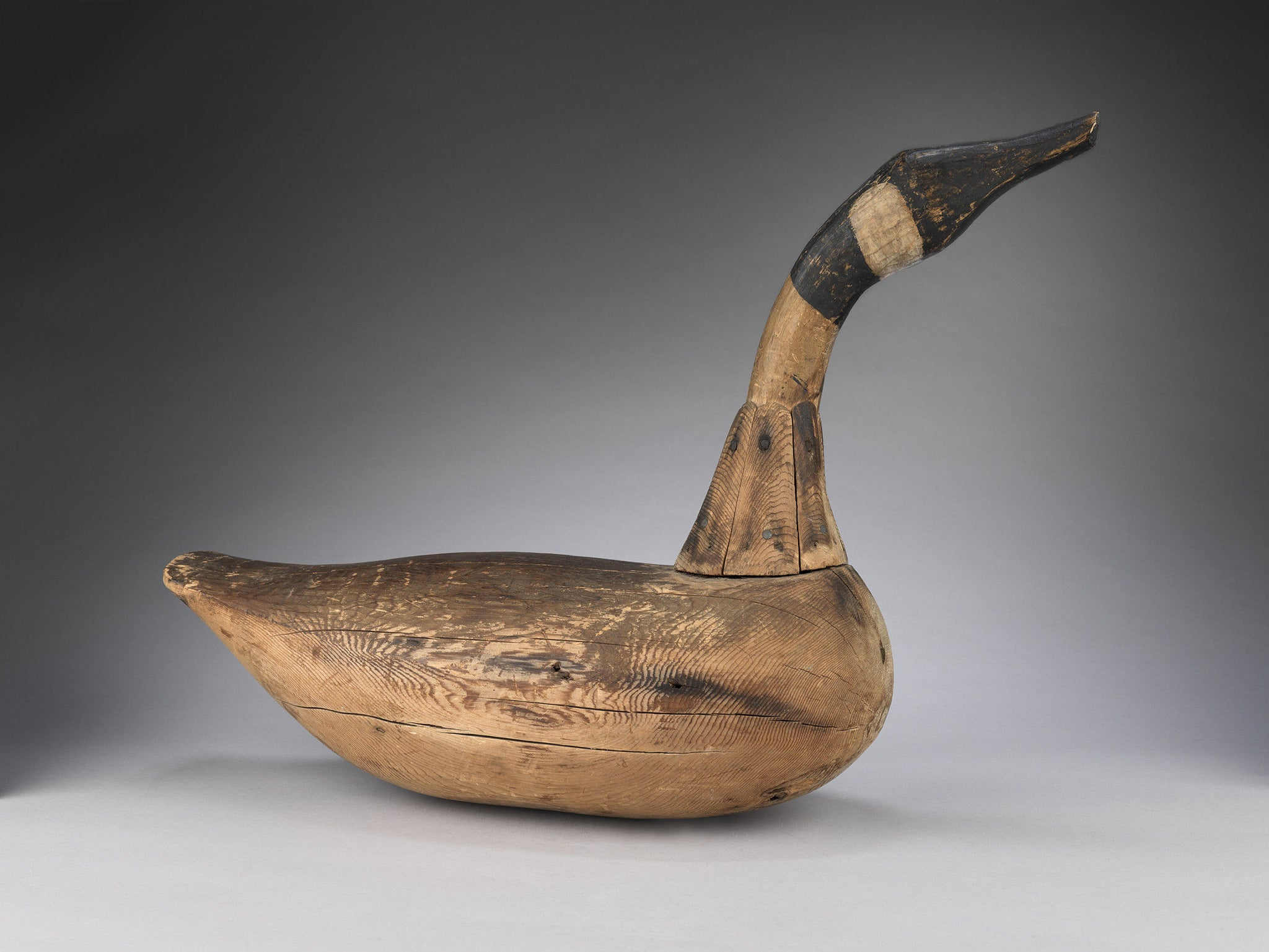 Wonderfully Sculptural Primitive Decoy Goose