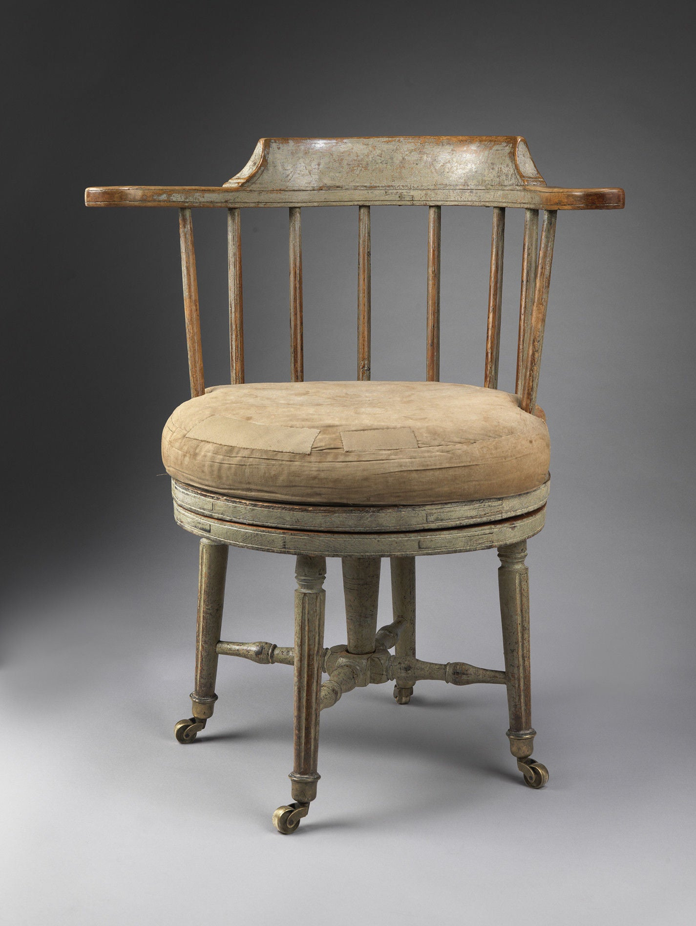 Remarkable Gustavian Period Revolving Desk Chair