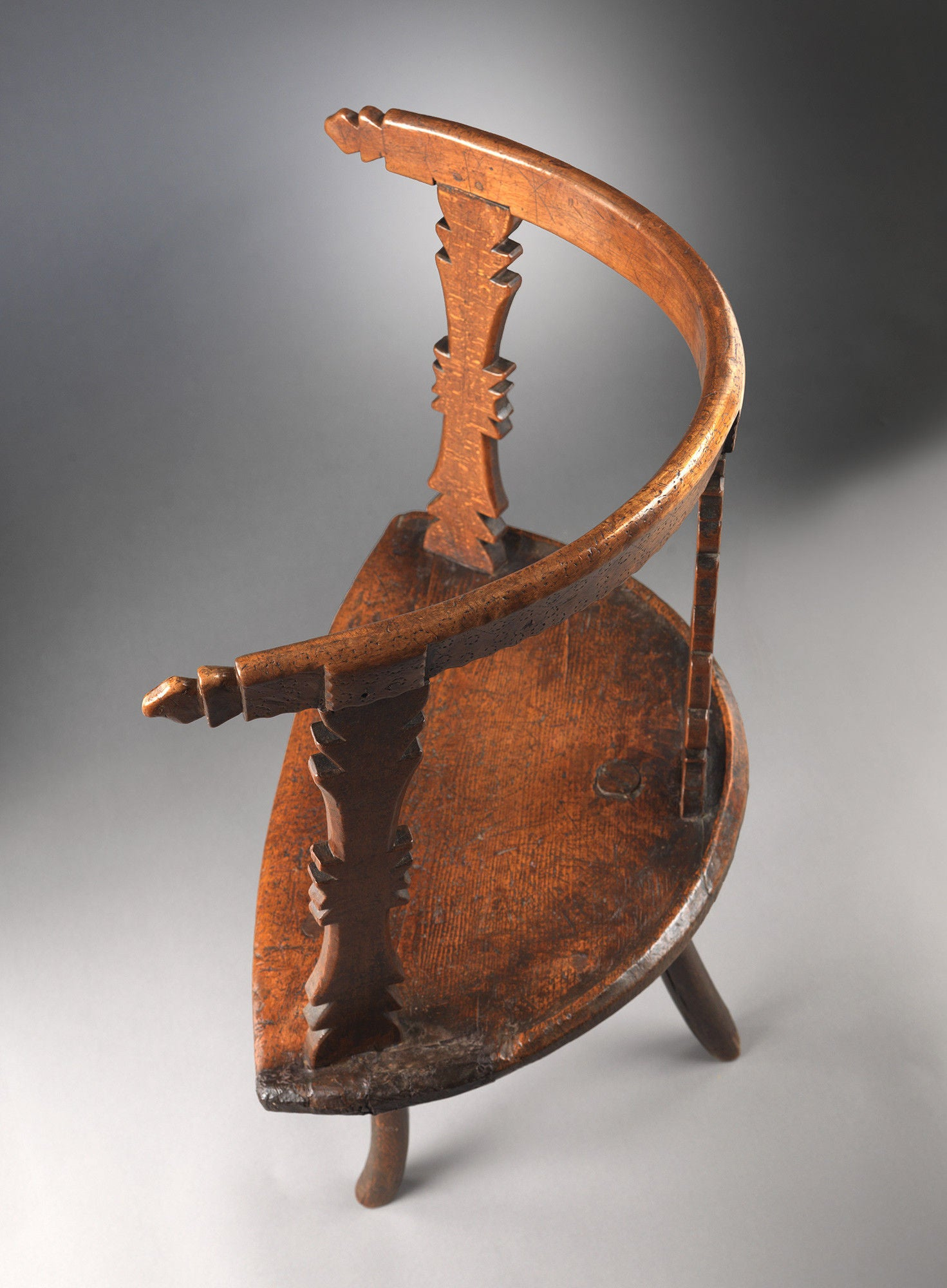 "Significant Primitive Orkney Islands ""Horseshoe"" Armchair"