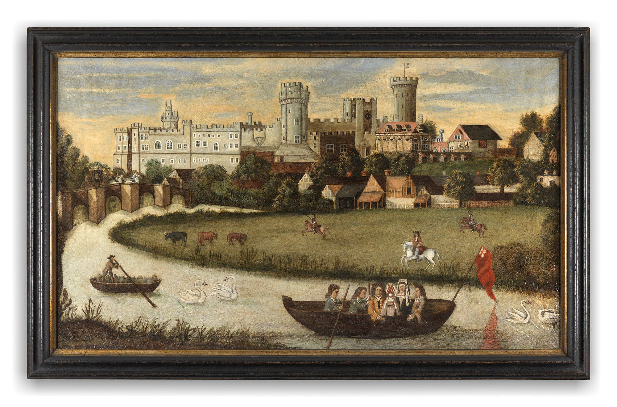"""Warwick Castle and the River Avon"""