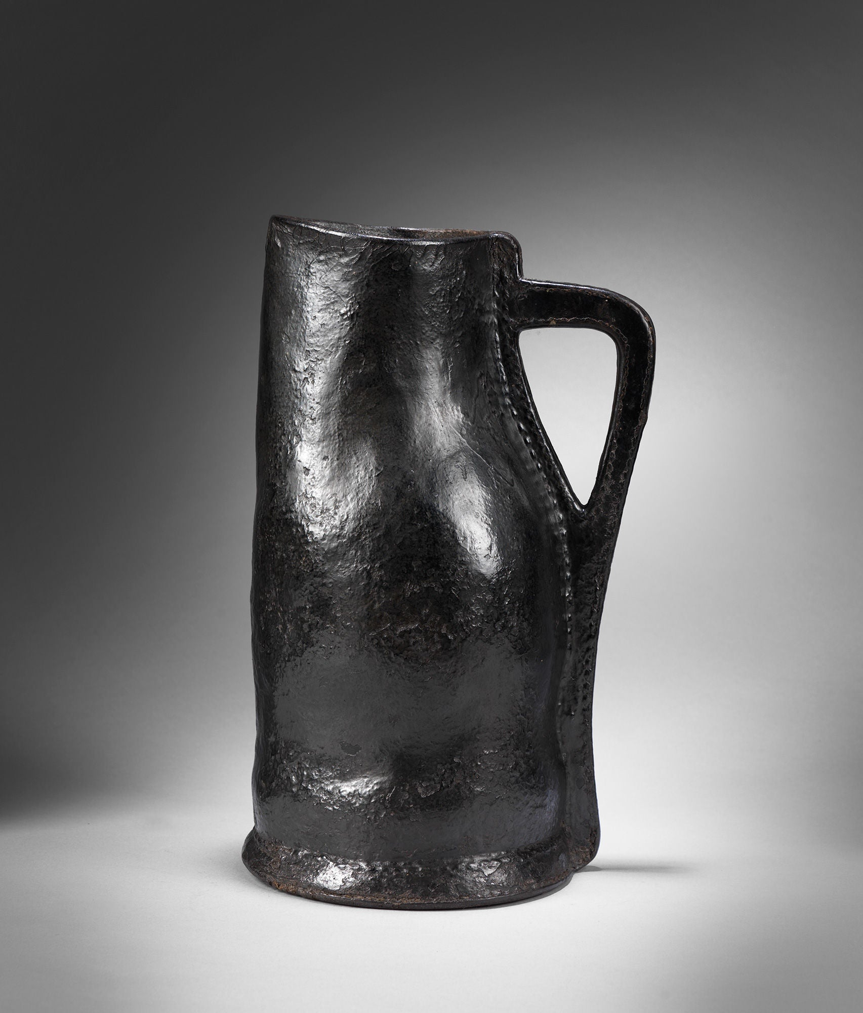 "Remarkable Early Baluster Form ""Bombard"" or Ale Jug"