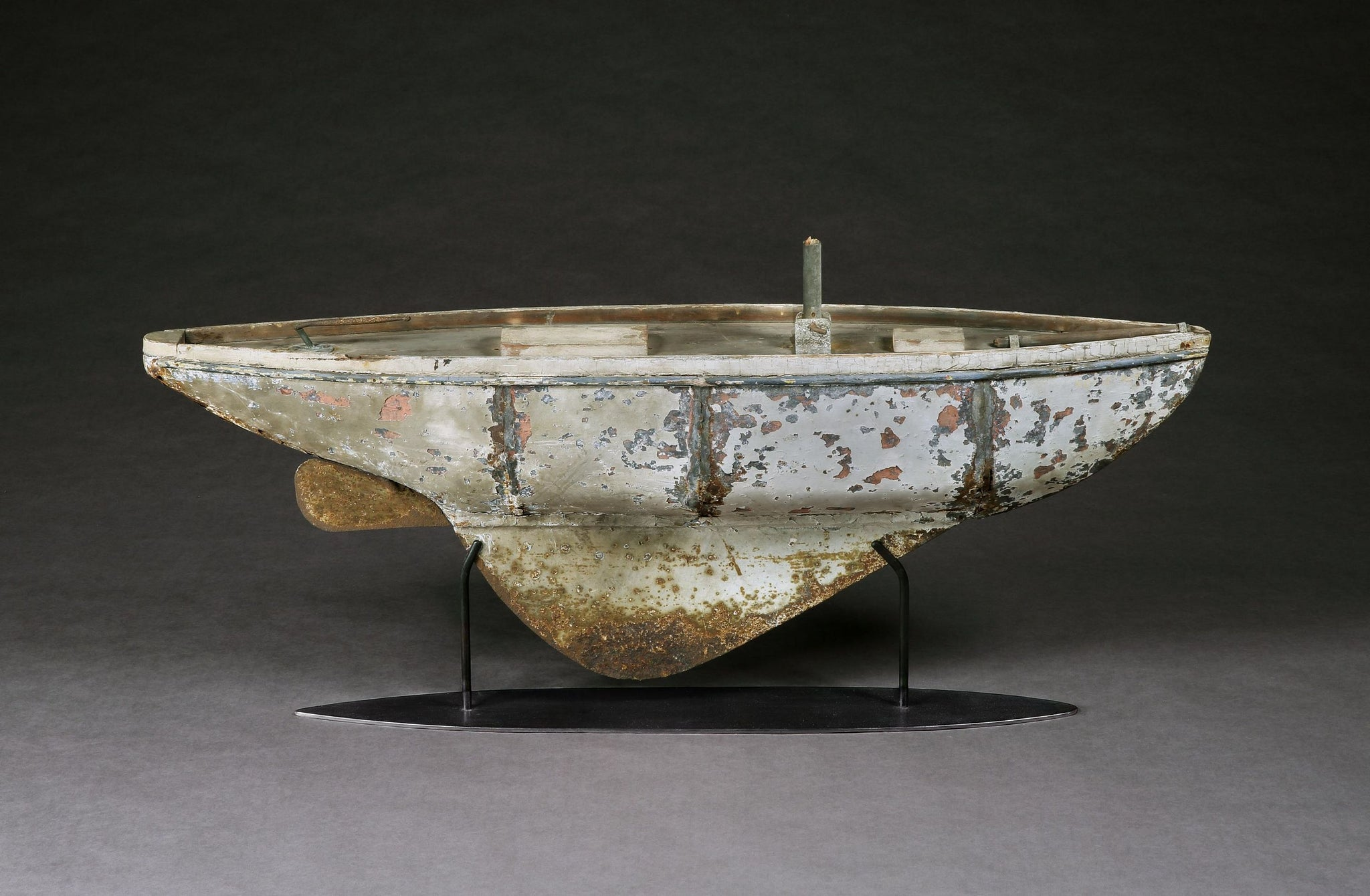 A Magnificently Sculptural Pond Yacht Hull