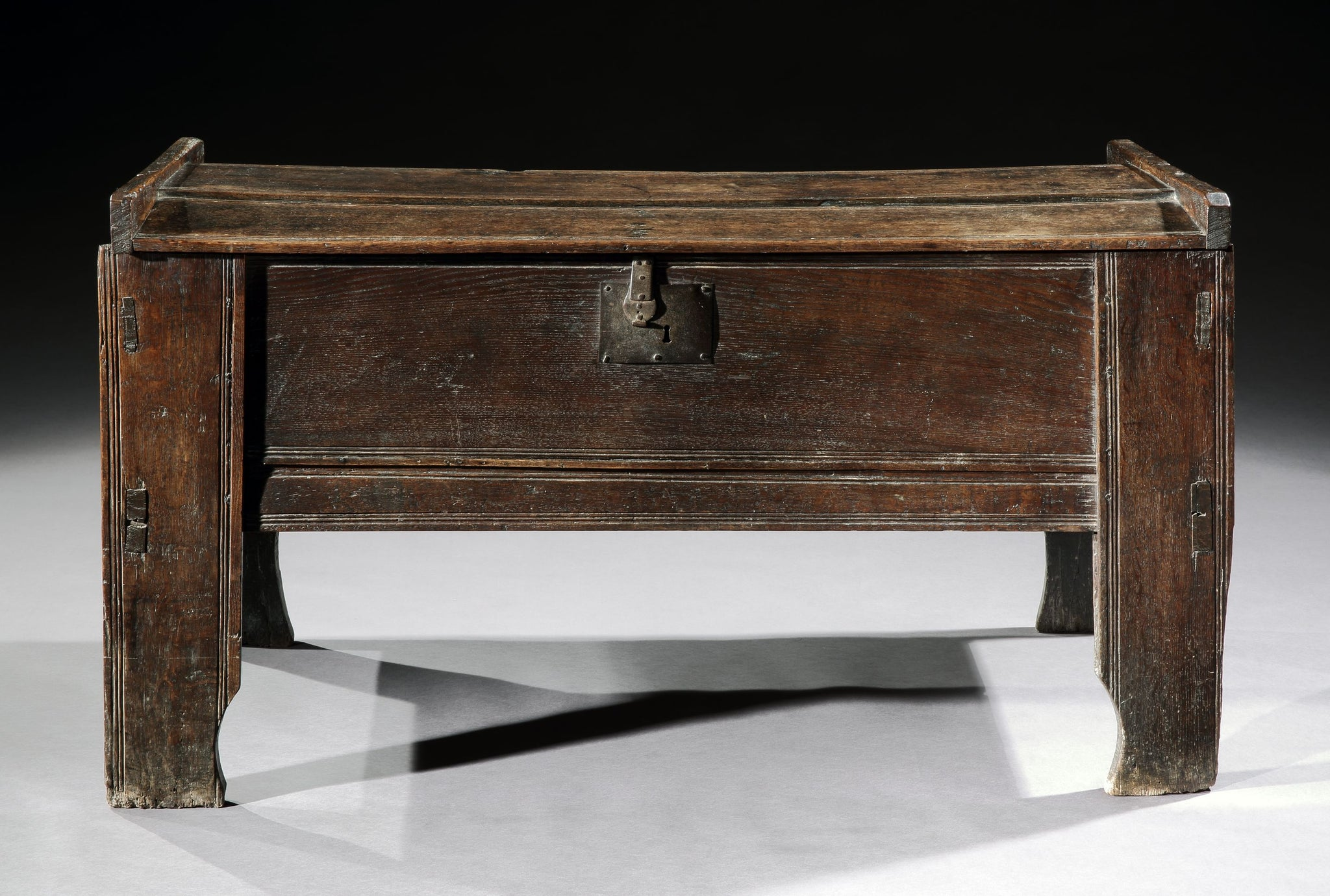 Rare Tall Sixteenth Century Boarded Chest