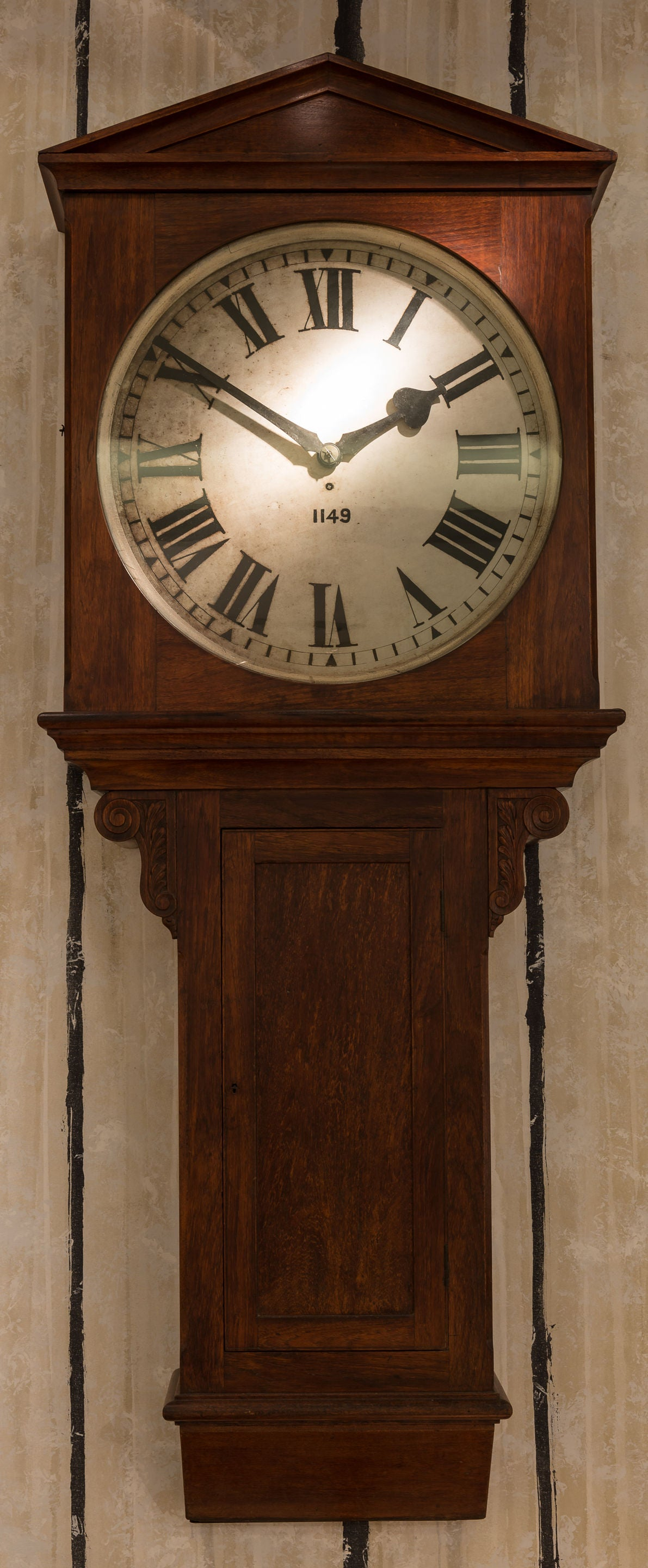 Rare and Magnificent Architectural Railway Clock