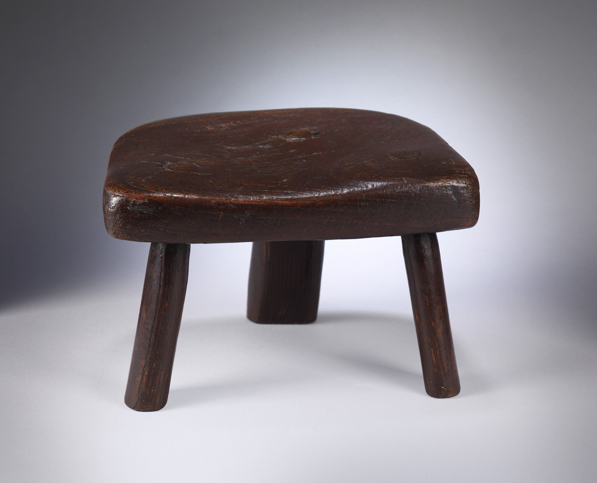 Fine Early Three Legged Primitive Stool