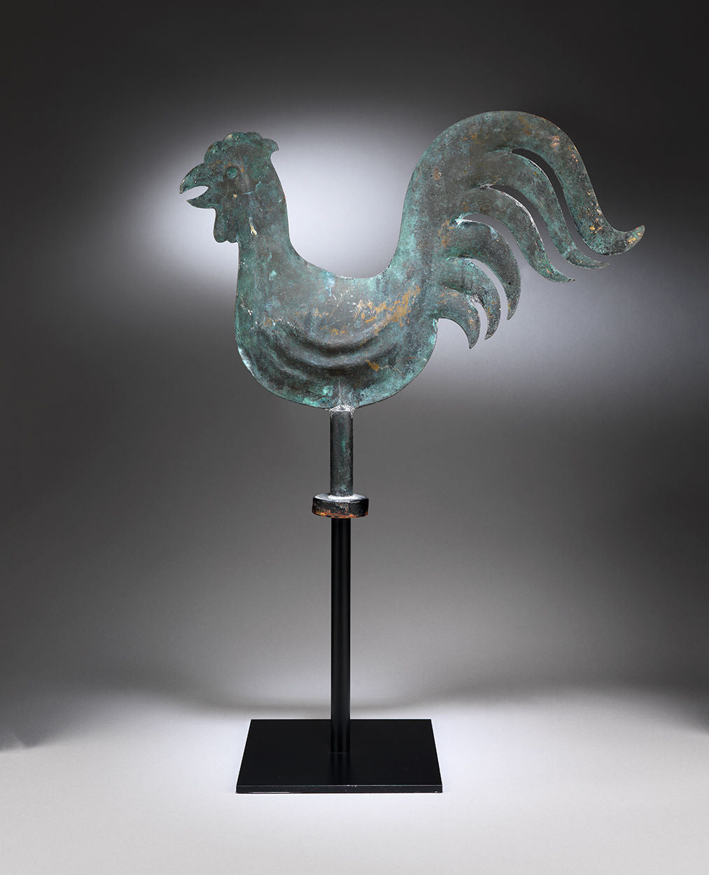Unusual Small Full-Bodied Cockerel Weathervane