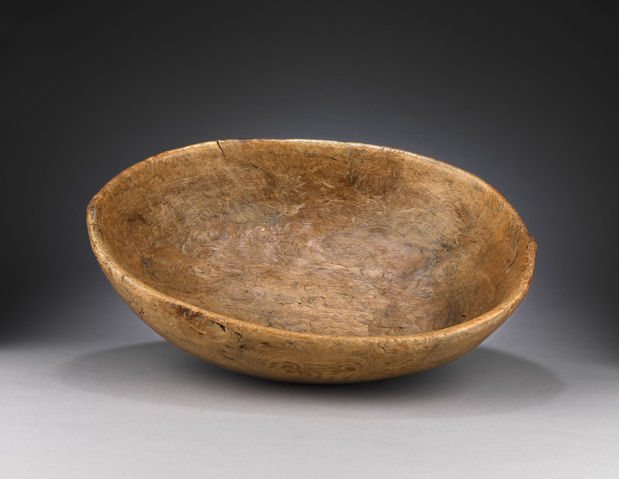 Unusually Large Scale Early Dug Out Bowl