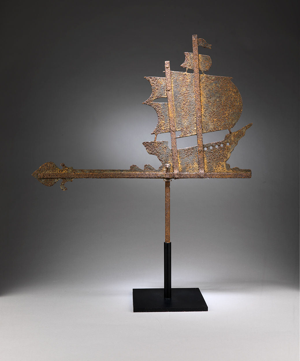 Unusual Silhouette Folk Art Ship Weathervane
