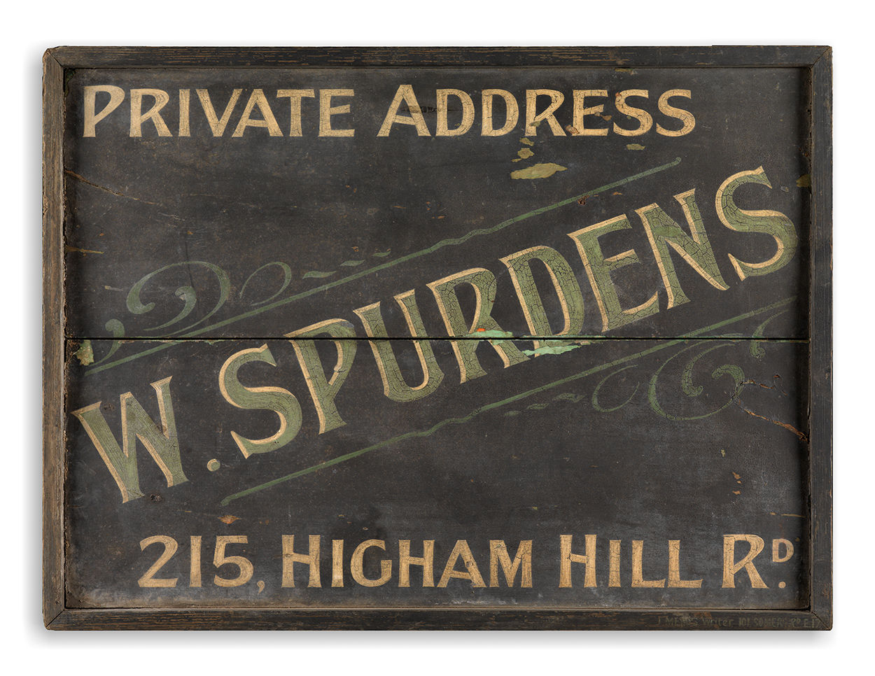 Signwritten Butcher's Trade Sign