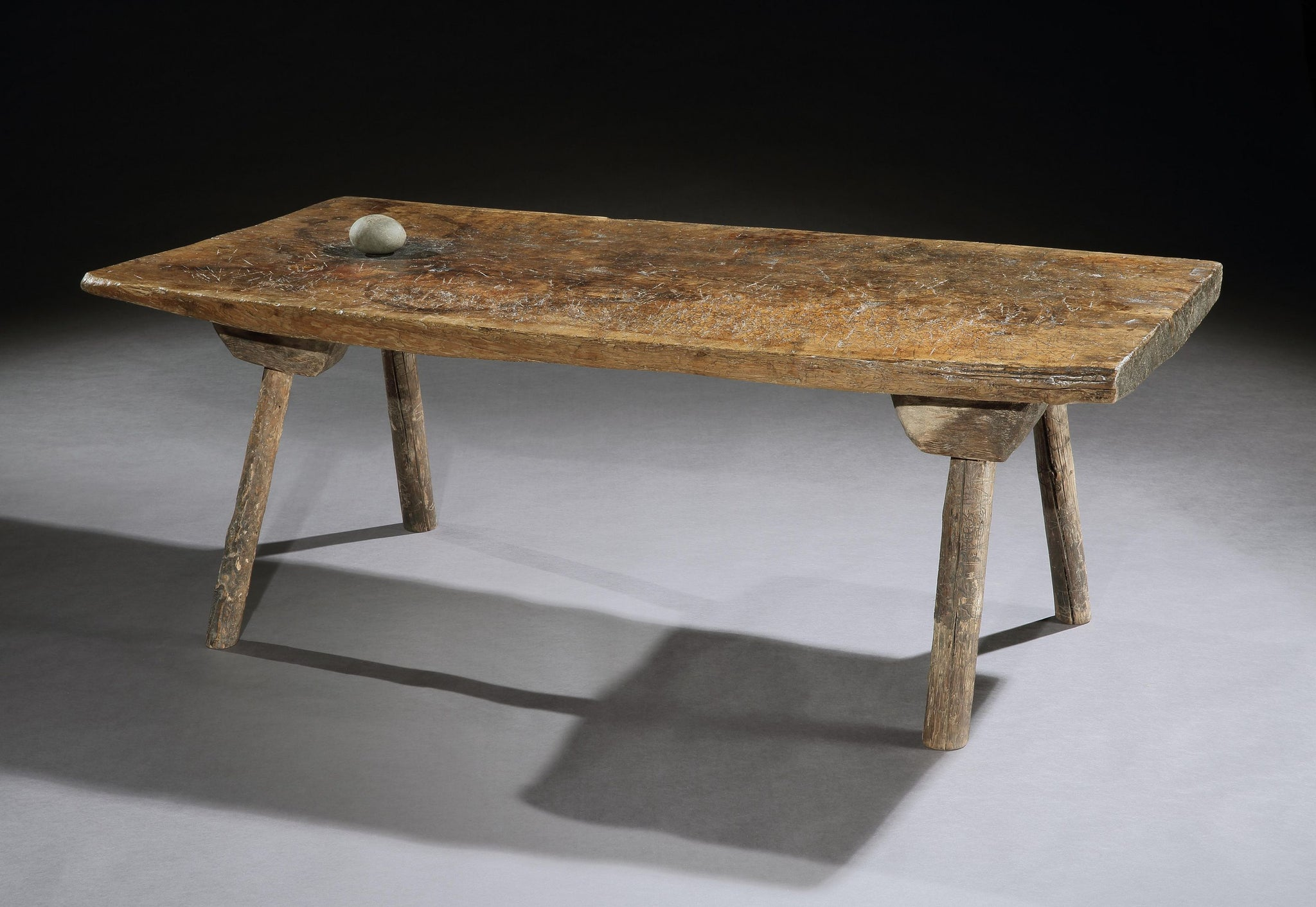 Fine Early Single Plank Top Primitive Low Table