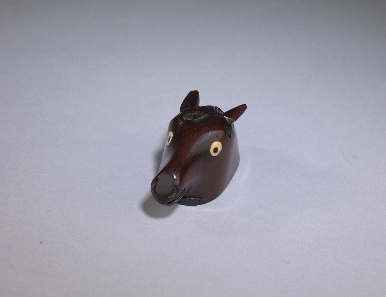 Georgian Snuff Box Sculpted into the Form of a Horse's Head