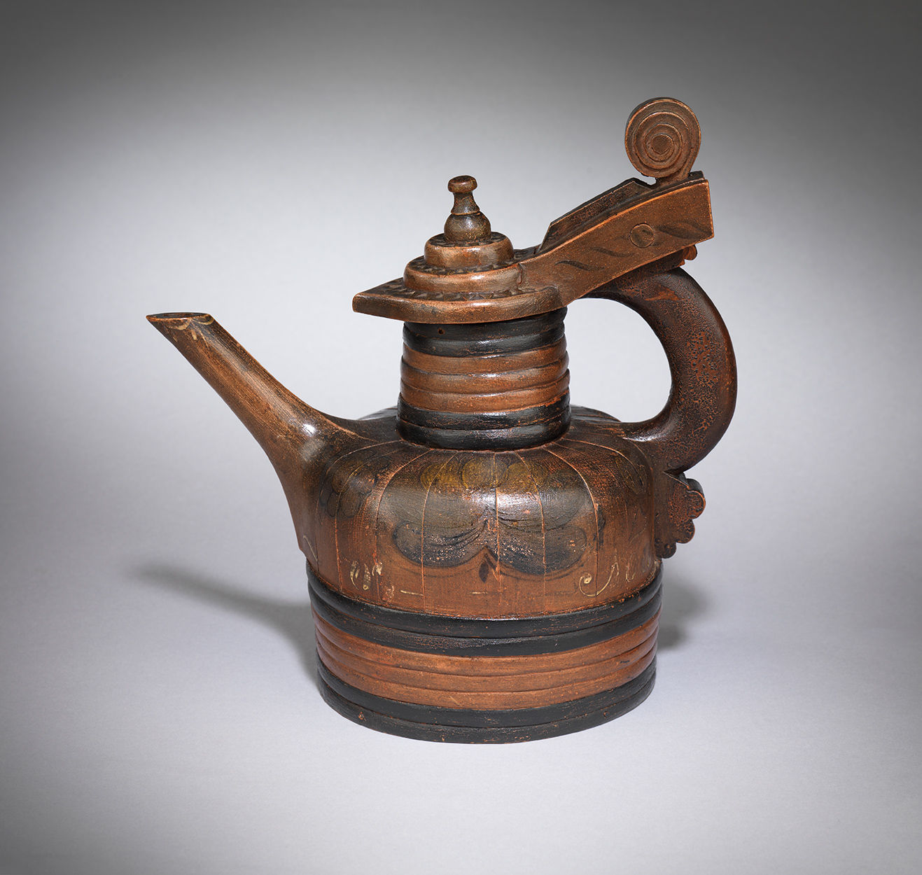 Ceremonial Staved Lidded and Coopered  Ale Jug