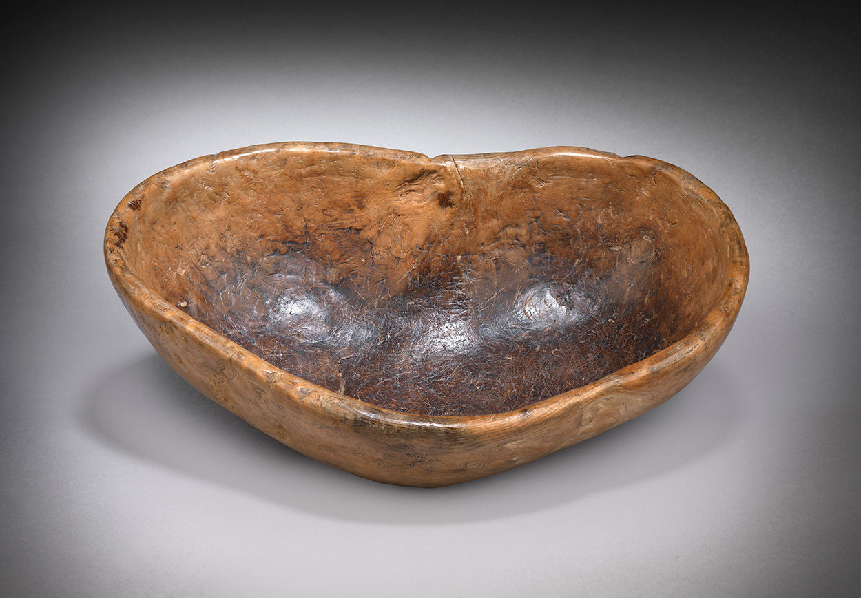 Primitive Naturally Heart Shaped Bowl