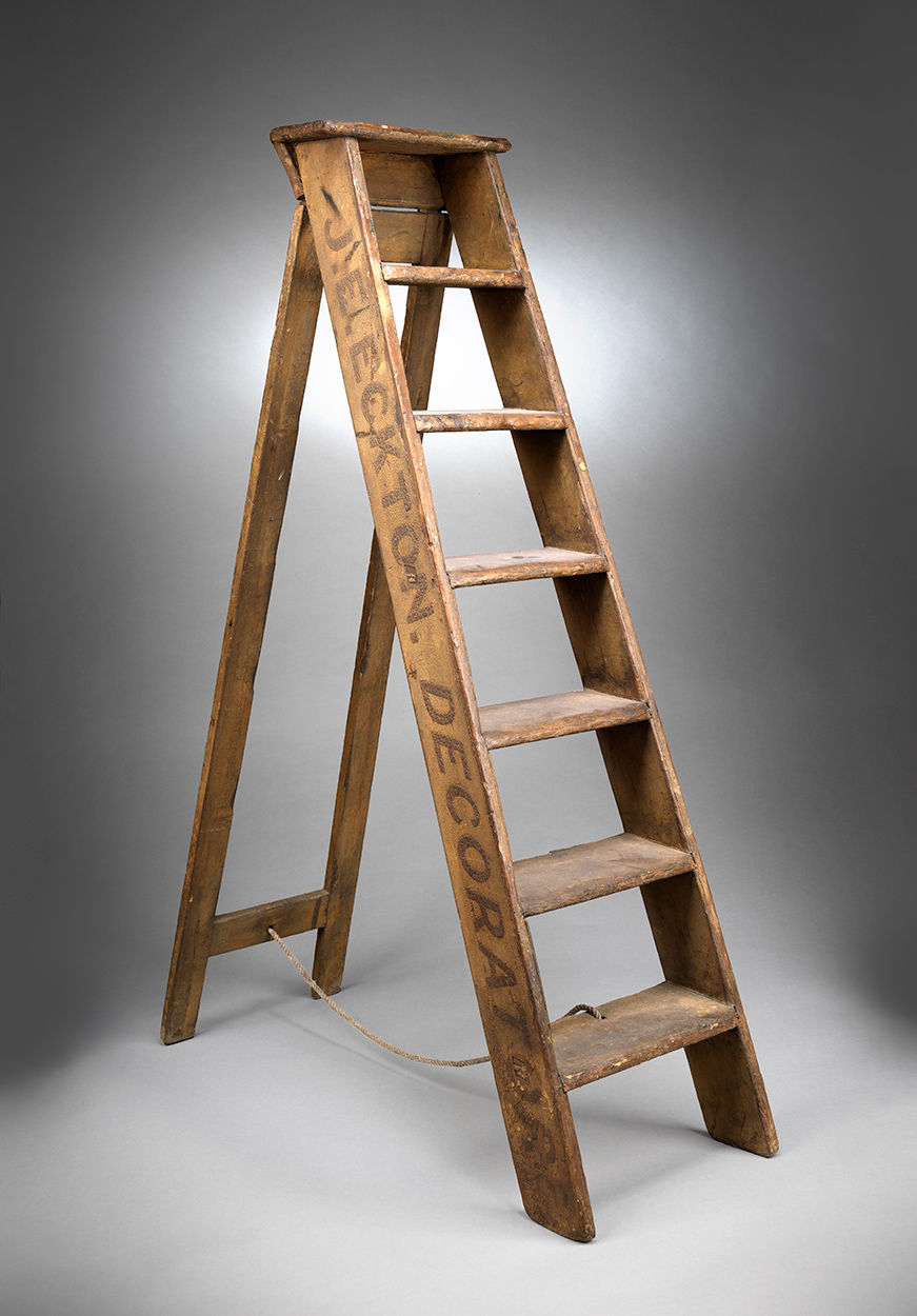 Working Vintage Decorators and Sign Writers Step Ladder