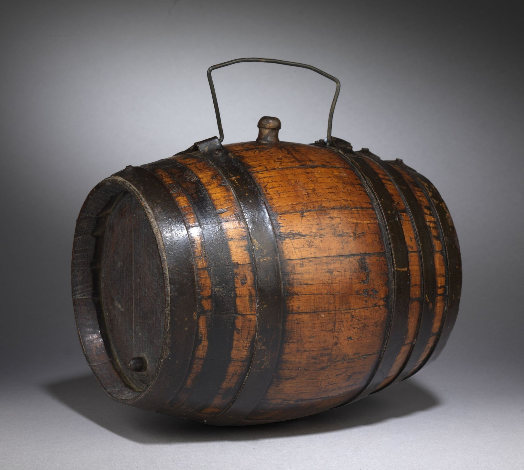 "Early Coopered ""Costrell"" or Cider Barrel"