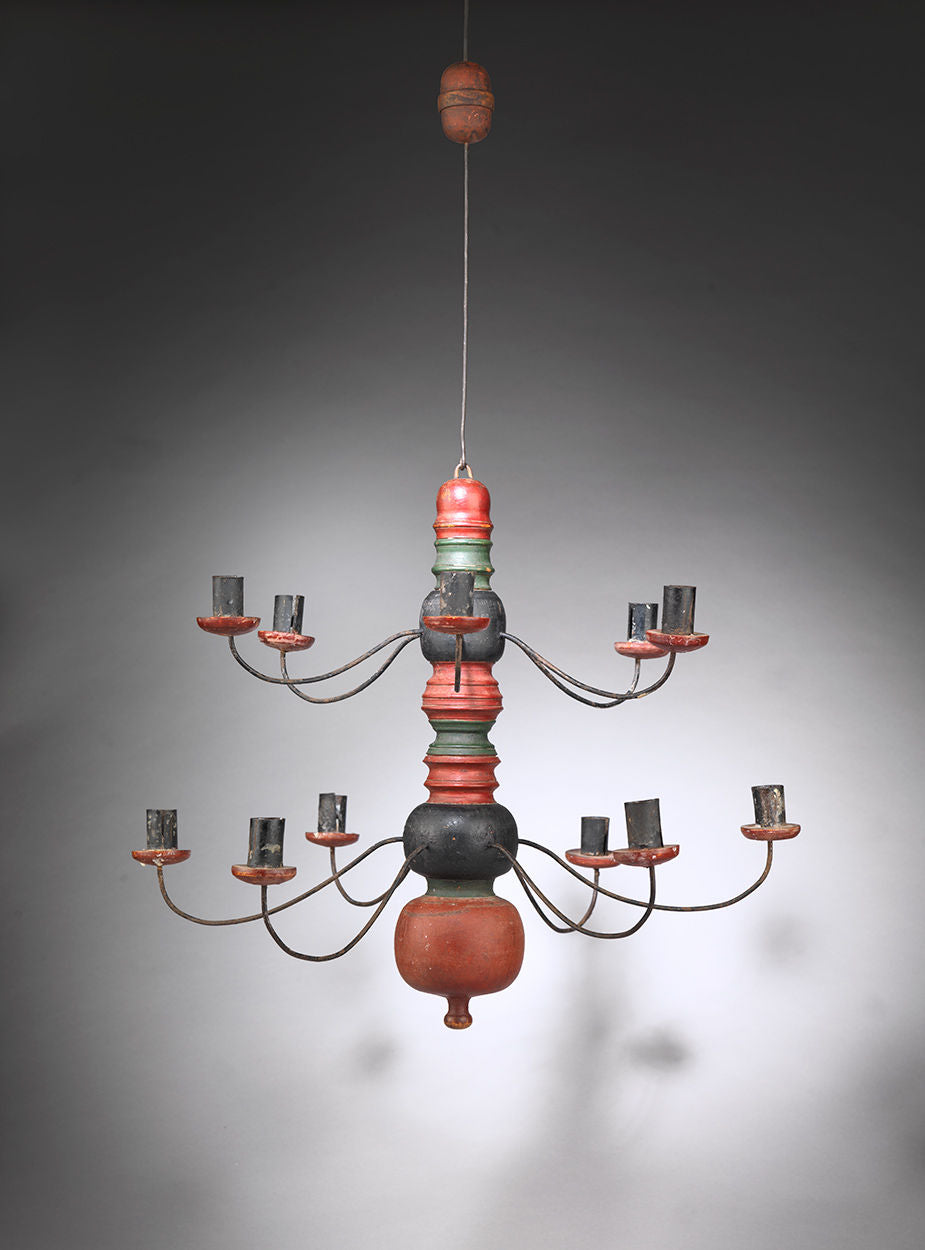 Swedish Vernacular Twelve Branch Chandelier
