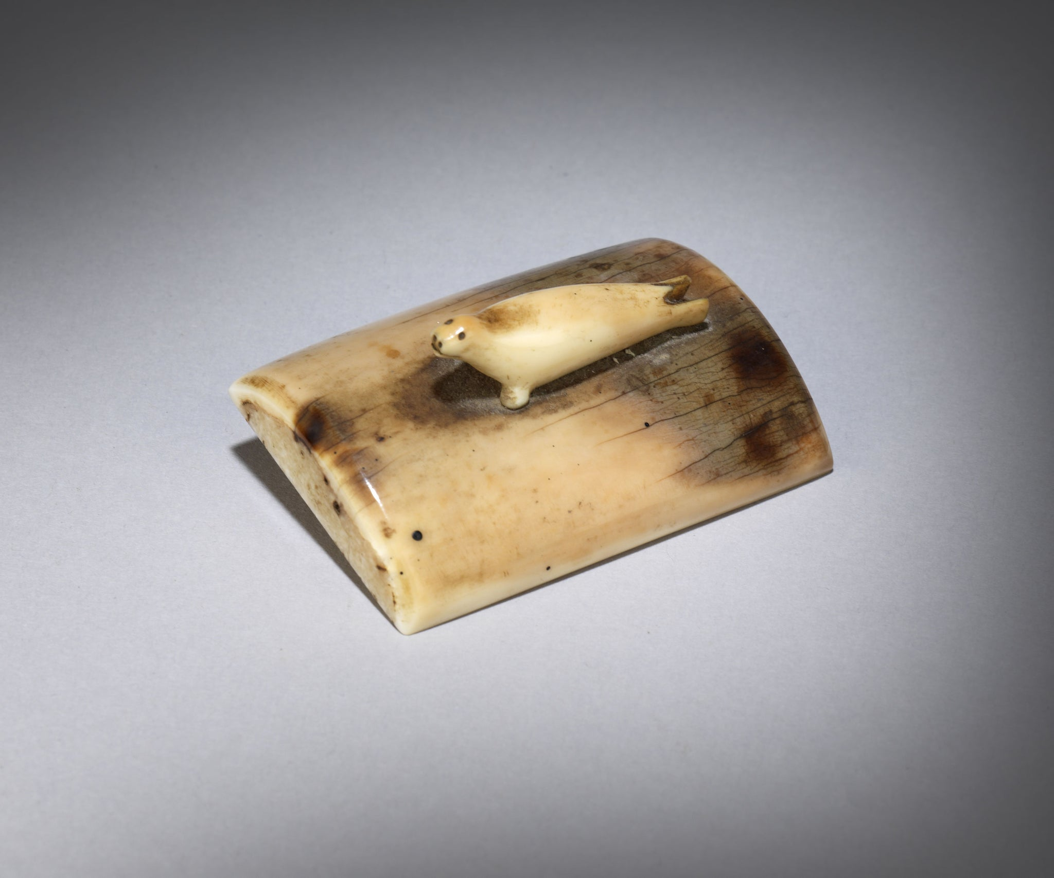 Rare Inuit Miniature Carving of a Seal Pup