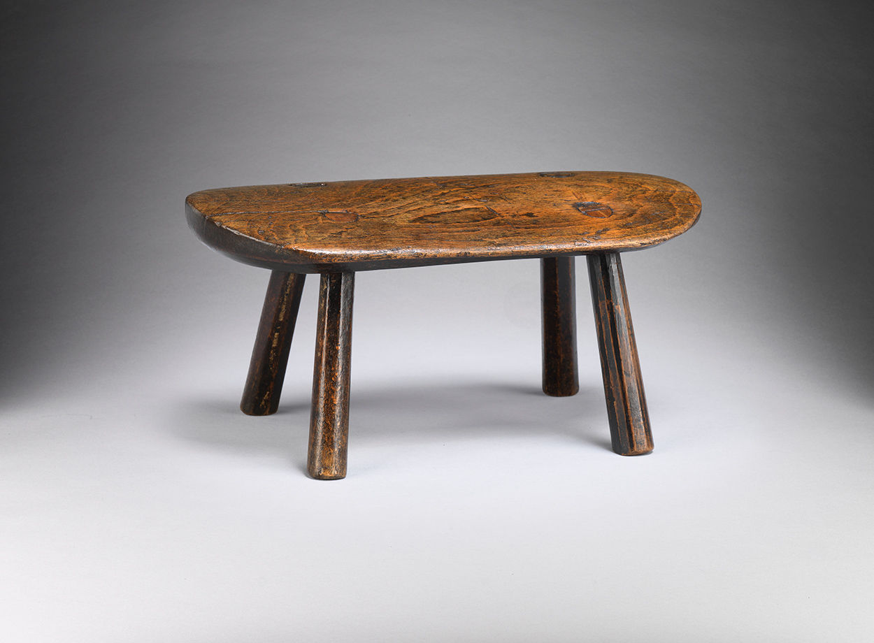 "Small Georgian Vernacular ""D"" Ended Stool"