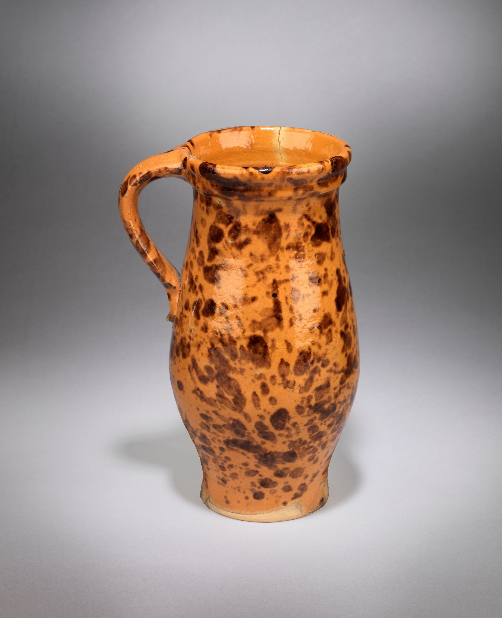 Spatter Slip Decorated Pitcher