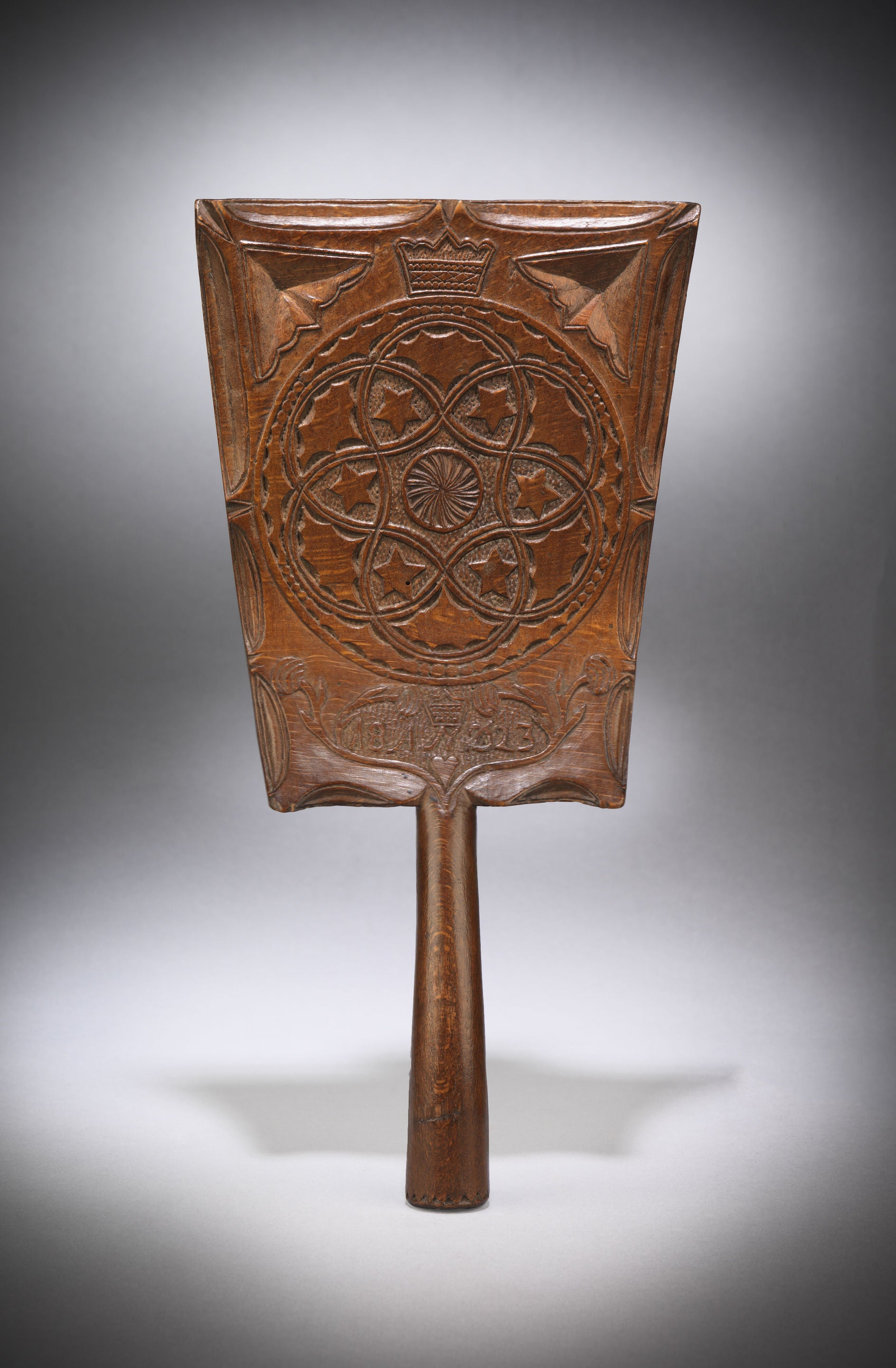A Decoratively Carved Love Token Washing Bat